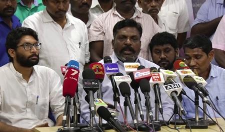 Jignesh Mevani Meet Thirumavalavan | Press Meet in Chennai