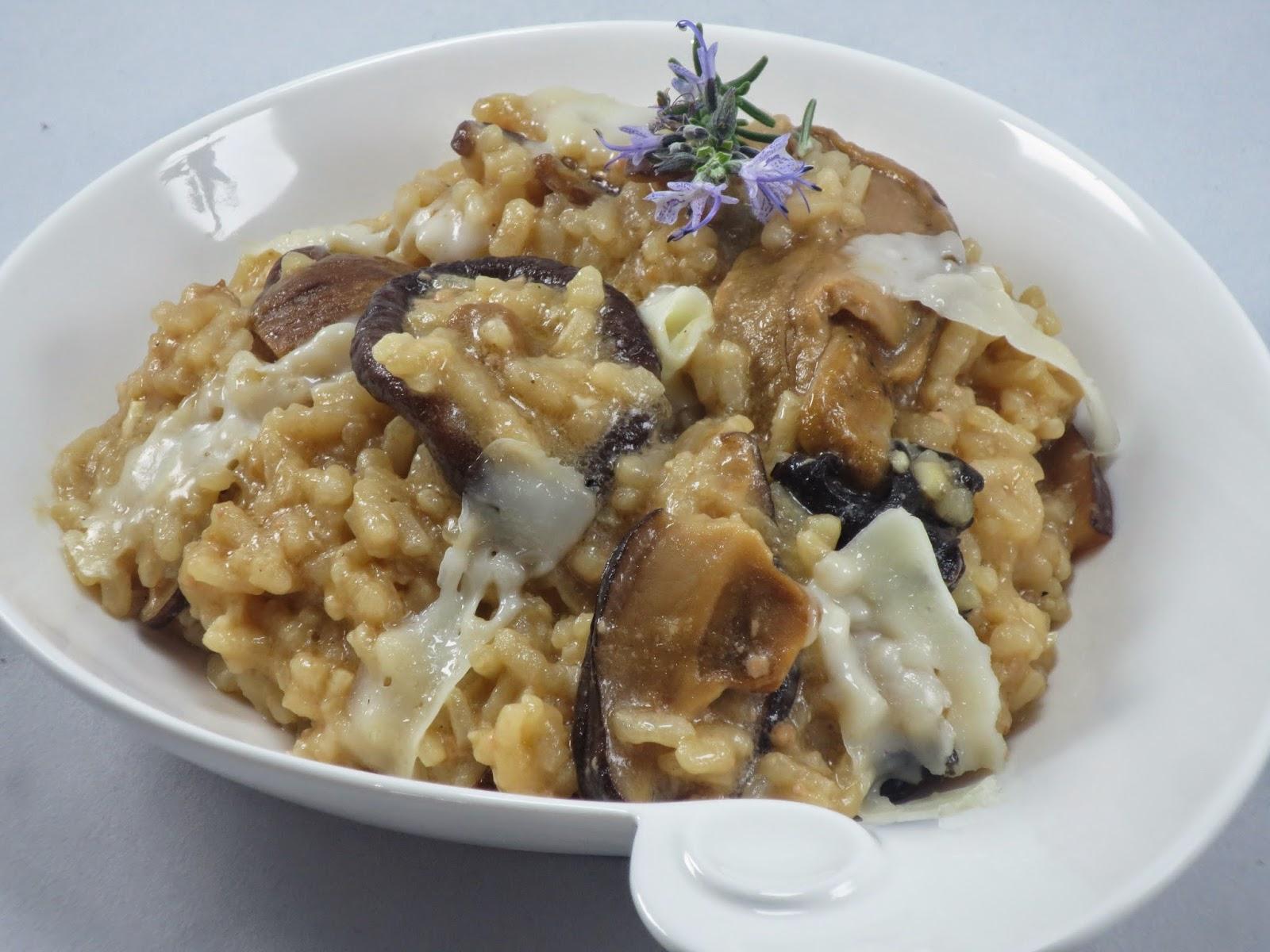 Risotto de setas y foie Ana Sevilla cocina tradicional