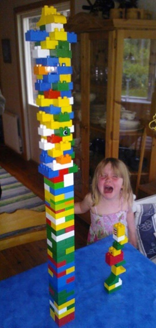 40 Photos Of The Most Hilarious Parents You Will Ever Meet - Well, Don't Say You Want A Lego Tower Tournament If You Can't Handle Loosing...