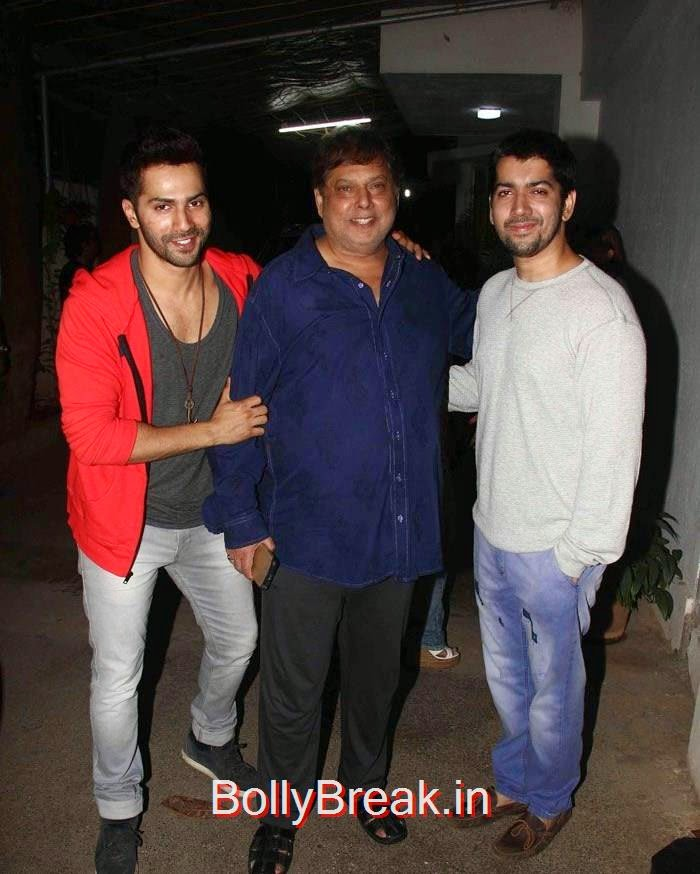 Varun Dhawan, David Dhawan, Rohit Dhawan, Radhika Apte Hot Images At 'Badlapur' Special Screening