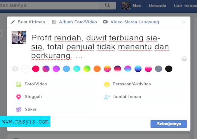 Cara Menjual di Facebook Menggunakan Status