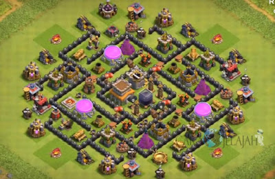 Base Hybrid TH 8 Clash Of Clans Terbaru Tipe 14