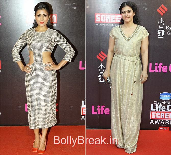 Pallavi Sharda, Kajol, Life Ok Screen awards 2015 Red Carpet Hot Pics