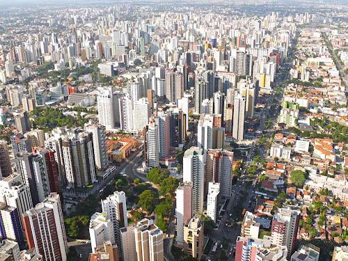 Imagem aérea de Curitiba