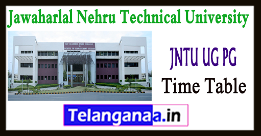 JNTU Anantapur 2-1 3-1 4-1 UG PG Odd Sem Exam Time Table 2017