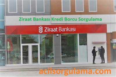 Ziraat Bankası Kredi Borcu Sorgulama