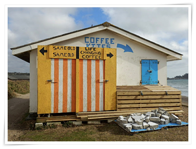 Beach cafe on coastal path, Cornwall