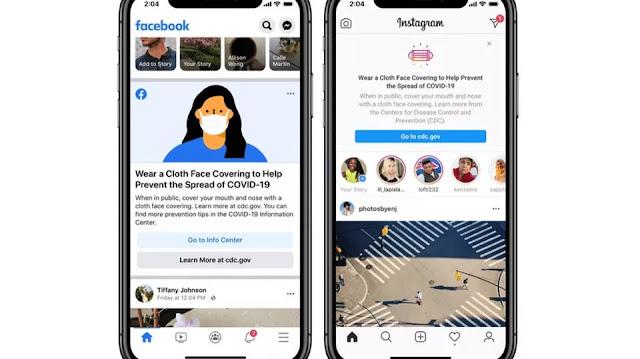 سيقوم تطبيقي Facebook و Instagram بتذكيرك بأرتداء الكمامة للوقاية من كورونا
