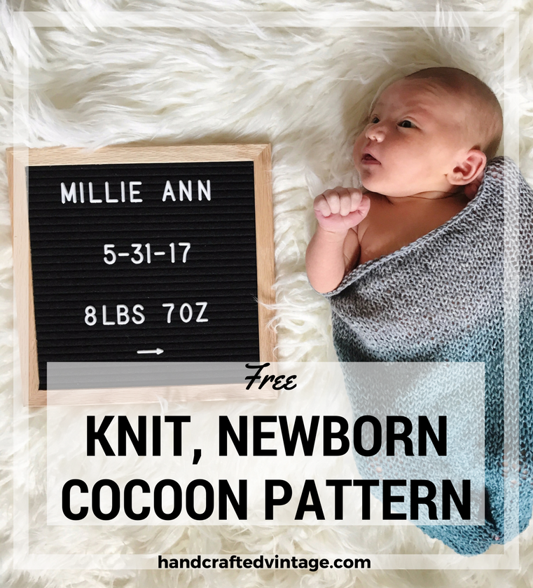 Knit Newborn Cocoon Pattern