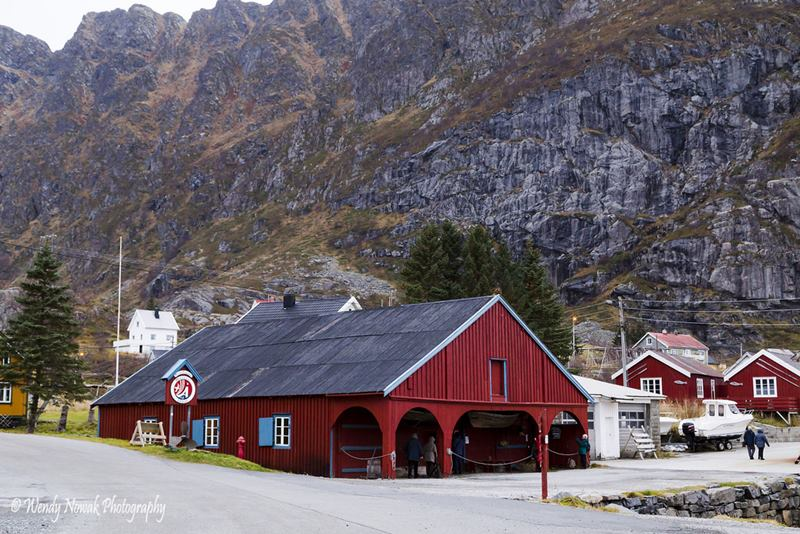 A little fishing village/museum in the Lofoten Islands