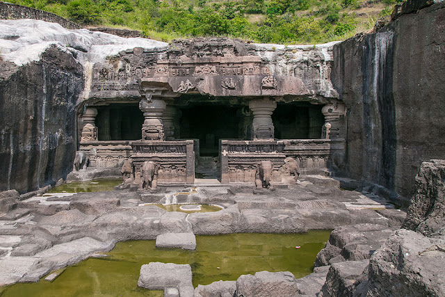 jain temples ellora caves stone carvings