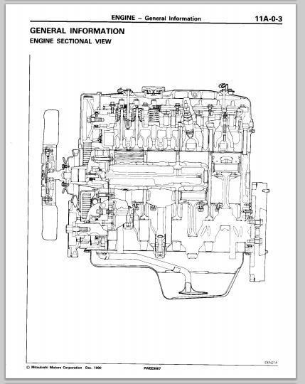 MITSUBISHI DIESEL ENGINE MANUAL CDROM 4D55 4D56 4D56T 4M40