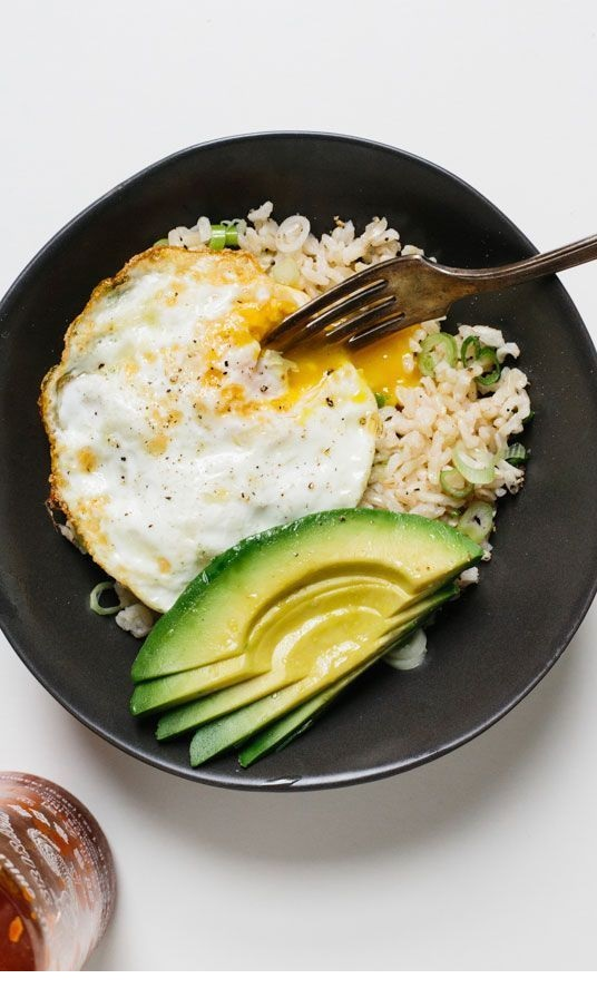 Rice Bowl with Fried Egg and Avocado Recipes