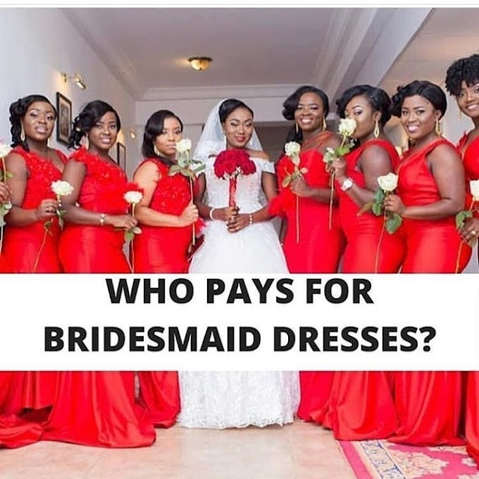 Who Do You Think Should Pay For The #Bridesmaidsdresses? The Bride Or The Bridesmaid(s)?