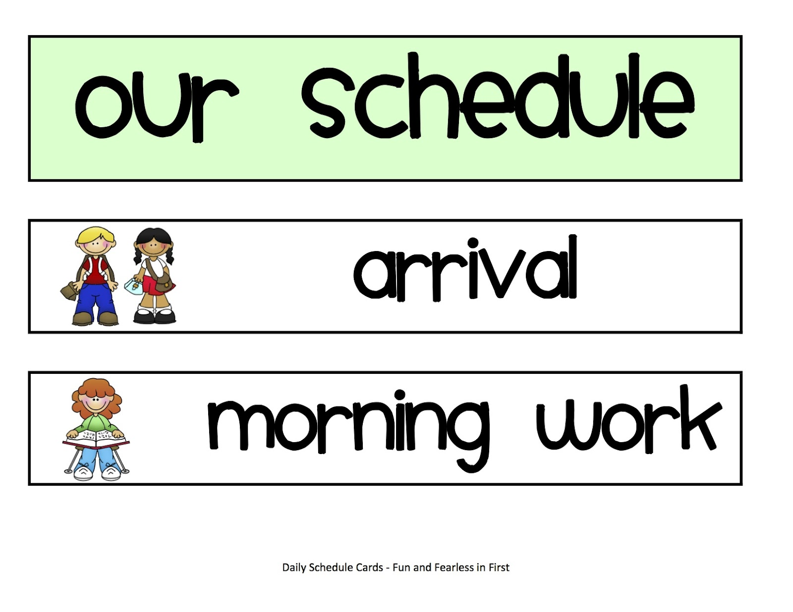 Daily Schedule Cards Again