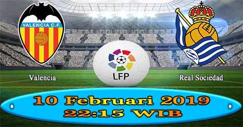 Prediksi Bola855 Valencia vs Real Sociedad 10 Februari 2019