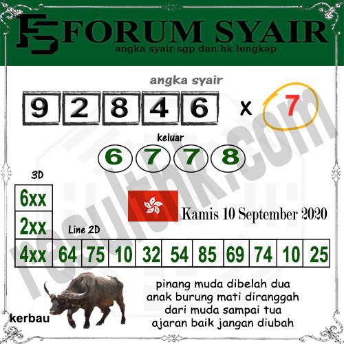 Forum syair hk Kamis 10 September 2020