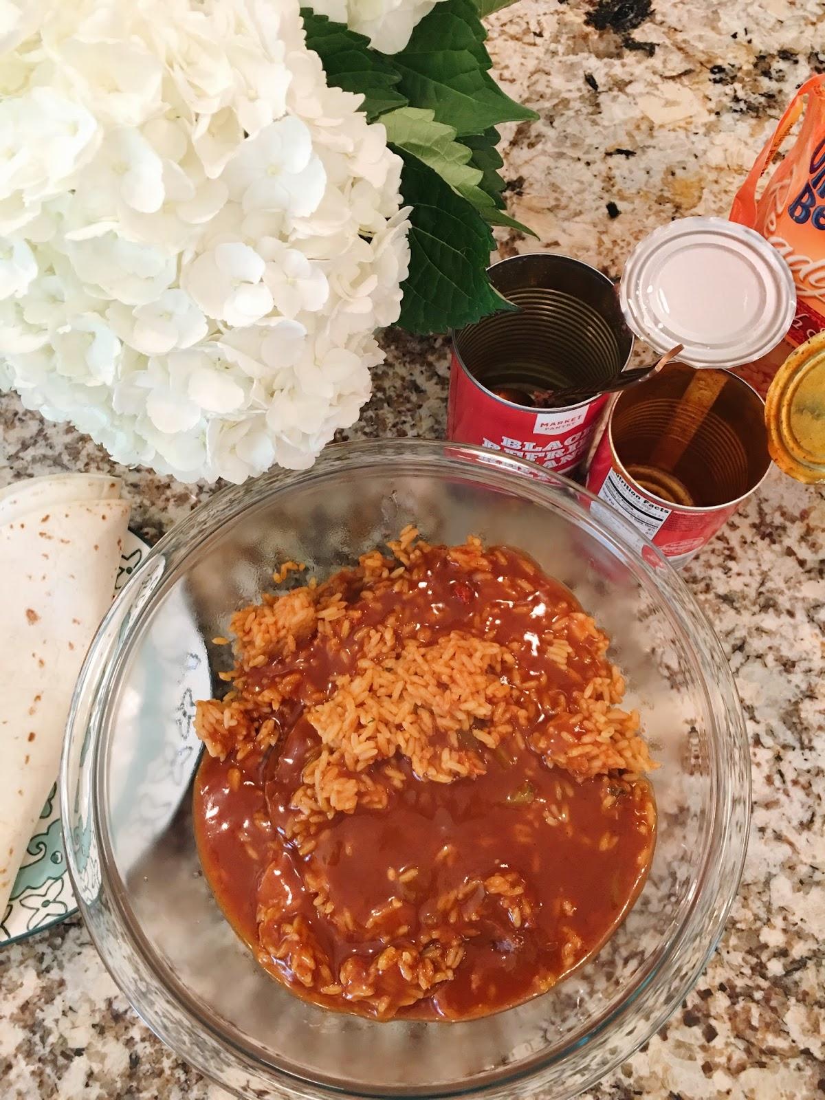 microwave bean burritos