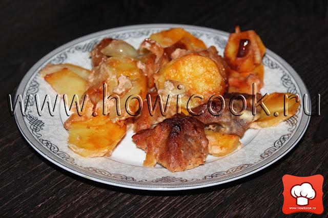 рецепт вкусной свинины с картошкой в духовке с фото
