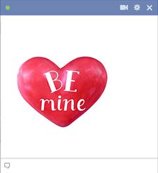 Be mine heart sticker