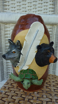 Totem Urn Turtle Urn Wolf Urn Bear Urn Warrior Feather Urn White Feather