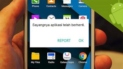 penyebab aplikasi crash
