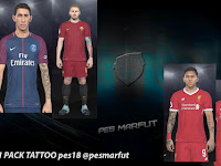 PES 2018 Tattoo Pack V1 dari PES Marfut