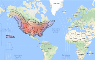Satellite Beam Coverage SES 2 87.0°W KU Band