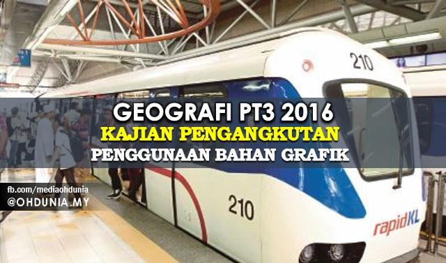 Geografi PT3 2016: Bahan Grafik Untuk Kajian Pengangkutan Awam