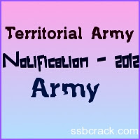 Territorial Army Notification 2012