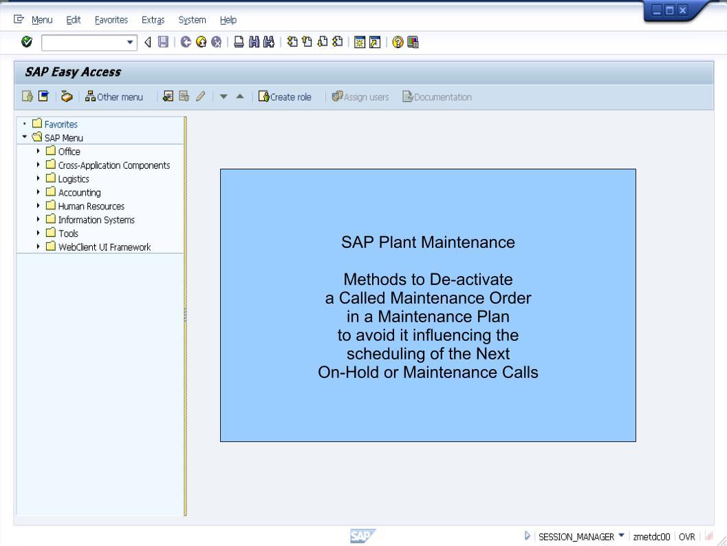 青蛙SAP分享 Learning & Examination: PM Preventive Maintenance - De