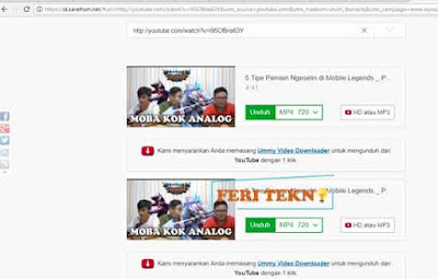 Download video di youtube - Feri Tekno