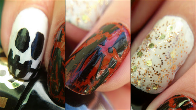 schnelles Halloween Naildesign