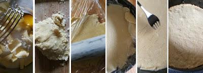 Zubereitung Mürbeteig für den Apfel-Käsekuchen; Schritt-für-Schritt Anleitung für Mürbeteig