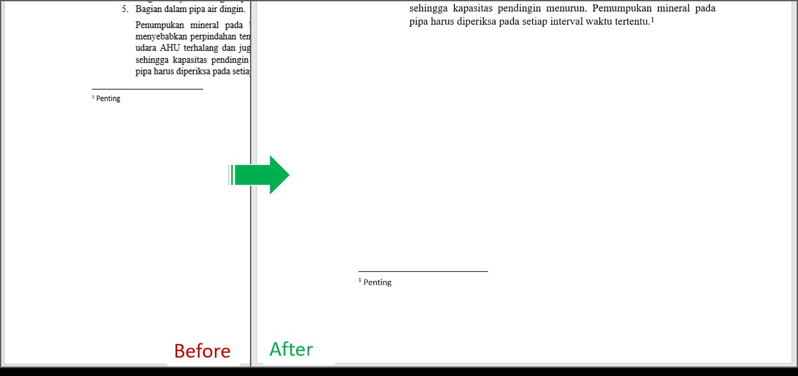 Mengganti Seluruh Tipe Endnotes ke Footnotes 5