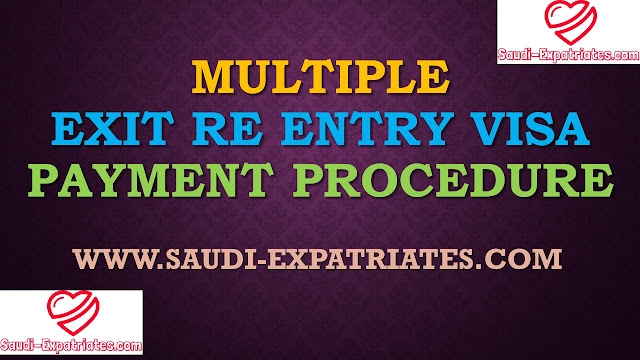 PAYMENT FOR MULTIPLE EXIT RE ENTRY VISA