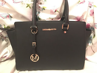 michael kors, black, handbag