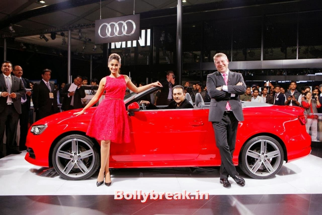 , ILeana DCruz at Audi Stand Auto Expo2014