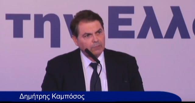 """Τα """"έχωσε"""" άσχημα στην κυβέρνηση ο Καμπόσος στο ετήσιο συνέδριο της ΚΕΔΕ στα Ιωάννινα (βίντεο)"""