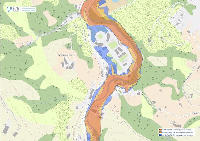 Mapa Gorostiza de zonas con riesgo de inundación