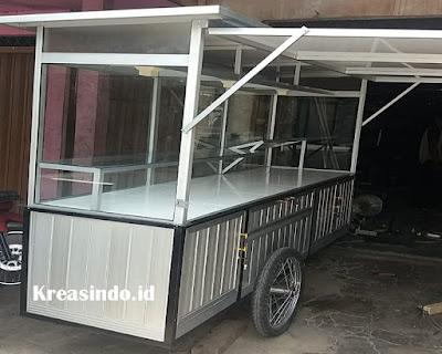 Harga Gerobak Aluminium Untuk Jualan Martabak
