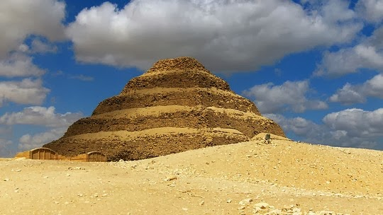 Ancient Pyramid a step pyramid Egypt