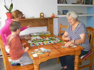 board game on dining table