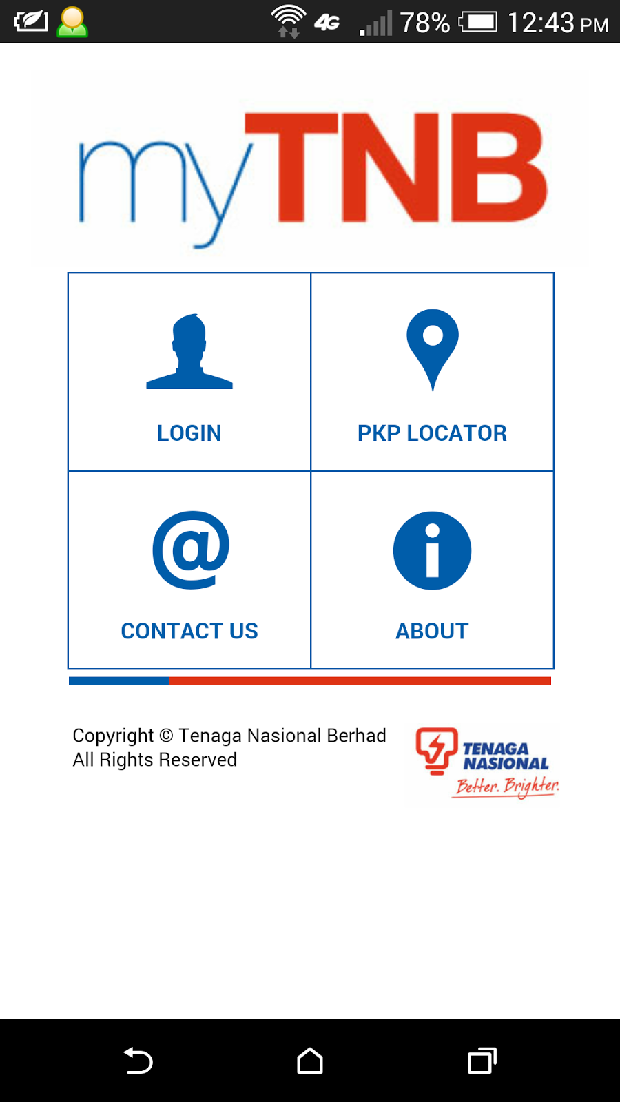 Check TNB electricity bill payment status with myTNB app for