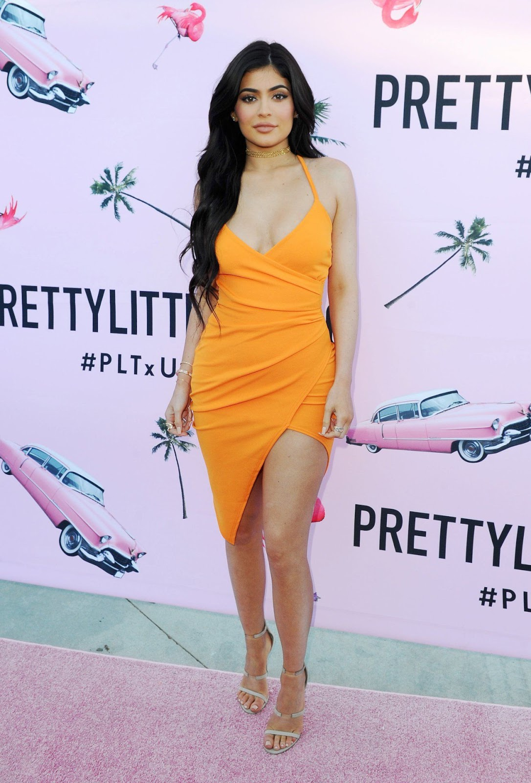 Kylie Jenner flaunts curves at the PrettyLittleThing US launch in LA