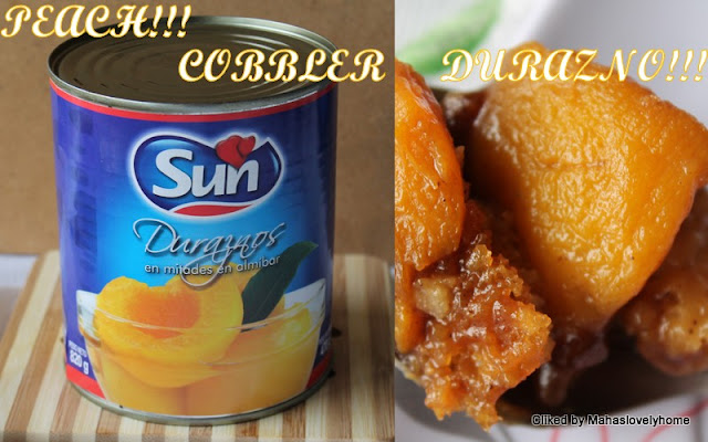 Canned Peach Cobbler With Cake Mix