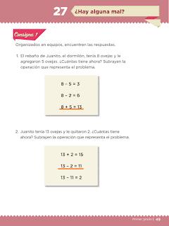 Lección 27 Hay alguna mal Primer grado matemáticas contestada