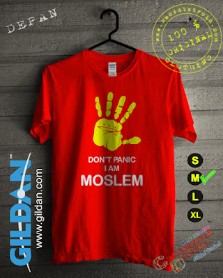Kaos Gildan Islami Dont panic Warna Orange