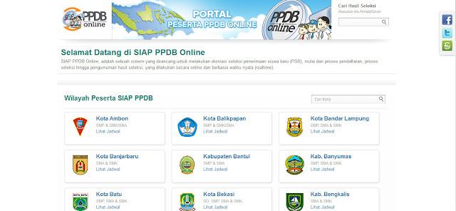 Jadwal Pendaftaran Online Siswa Baru PPDB Tahun 2016/2017