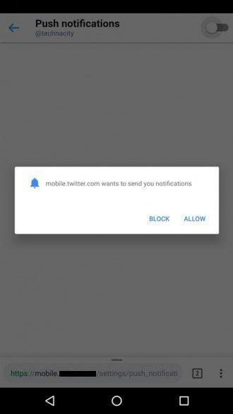 gestire le autorizzazioni dei siti web su Chrome